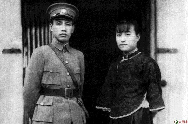蒋介石与陈洁如,摄于1920年代.